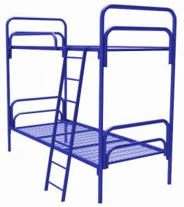 Кровать высокая с лестницей и ограждением