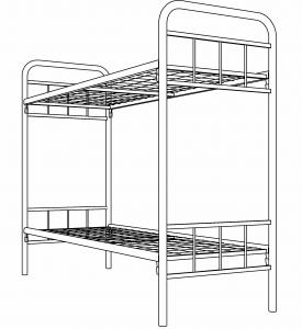 Кровать двухъярусная строительная усиленная