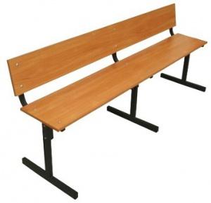 Скамейка со спинкой 1800