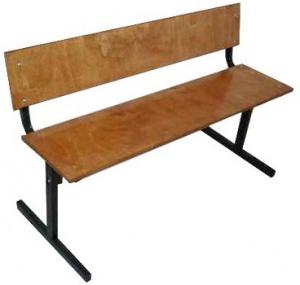 Скамейка со спинкой 1500