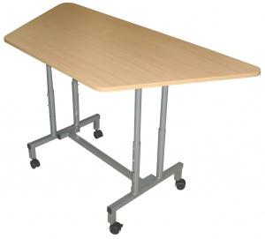 Стол учебный на колесиках, регулируемый по высоте